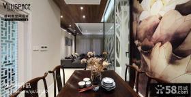 2013新中式餐厅背景墙设计