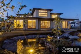 日式风格二层别墅楼房外观效果图