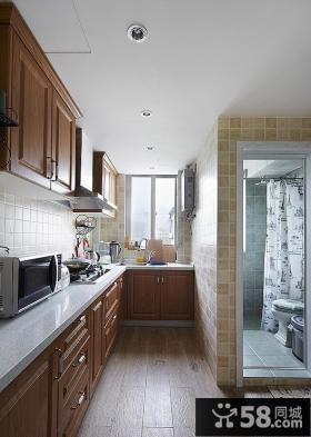 美式风格小户型厨房设计效果图