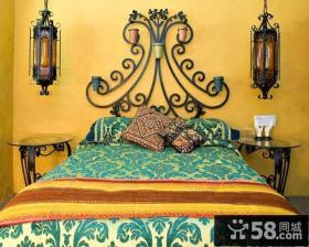 90平米小户型东南亚风格卧室装修效果图大全2014图片