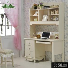 简约欧式风格书柜电脑桌图片