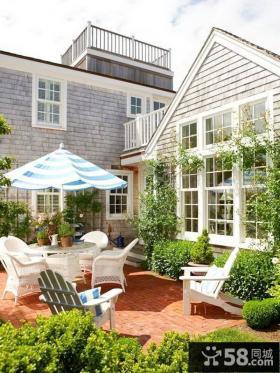 别墅露天花园阳台装修图片