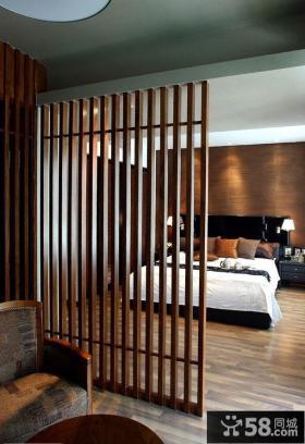 复式楼卧室屏风隔断装修效果图