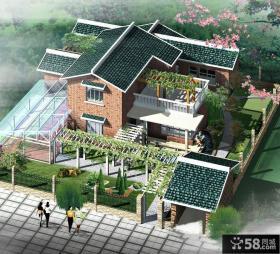 二层农村别墅户型图
