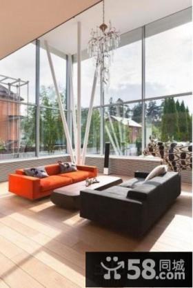 别墅挑高客厅现代简约风格