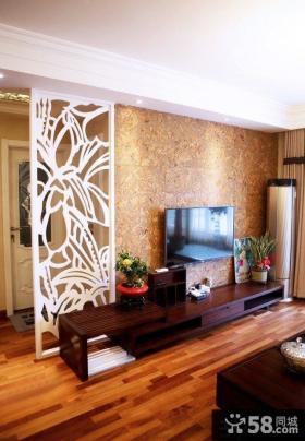 新中式风格客厅电视背景墙装修设计