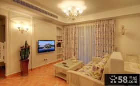 二手房装修 简约风格客厅电视背景墙装修效果图