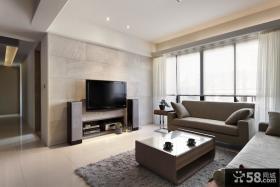 90平小户型现代简约客厅装修效果图欣赏