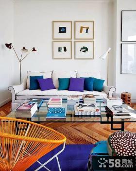 缤纷色彩现代小户型家居装修案例