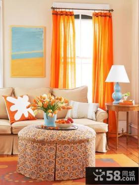 客厅窗帘效果图 2012优质欧式客厅窗帘图片