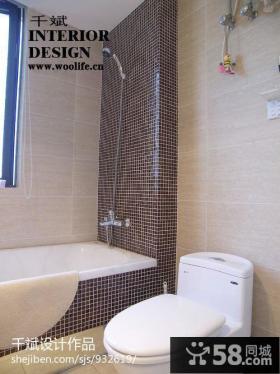 家装卫生间马赛克瓷砖装修效果图片