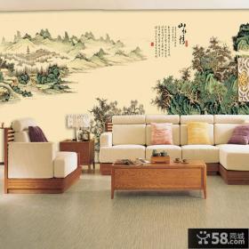中式室内壁画图片欣赏