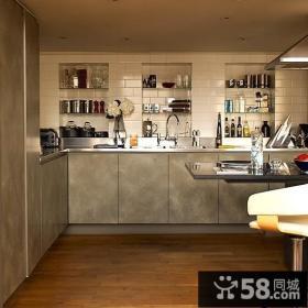 美式小复式厨房装修效果图