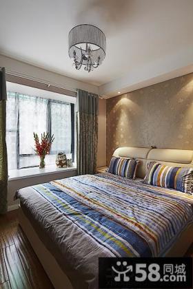 现代小户型卧室飘窗装修效果图2014