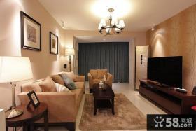 84平方小户型现代风格客厅装饰设计图