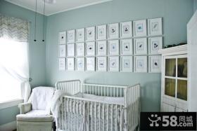 78平米小户型淡蓝色调儿童房装修效果图大全2014图片