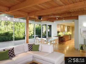 复式房装修样板 现代客厅装修效果图