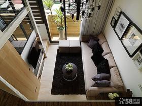 现代简约复式挑高空间设计客厅效果图大全