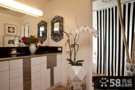 美式乡村别墅卫生间玄关装修效果图大全2012图片