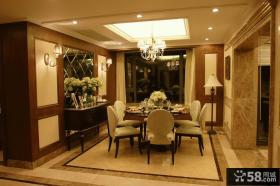 豪华别墅西餐厅设计效果图