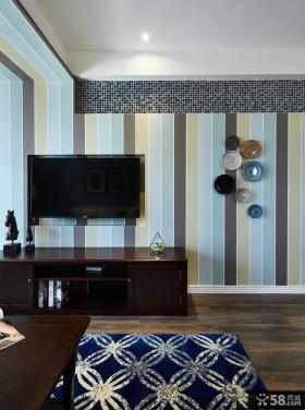 美式简约家居电视背景墙装饰效果图