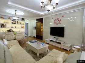 简欧风格装修客厅电视背景墙效果图