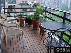 阳台木地面装修