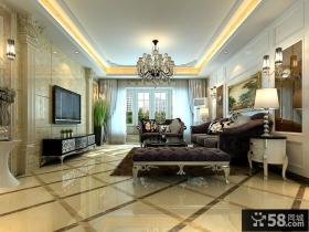 最新欧式风格客厅电视背景墙装修效果图大全