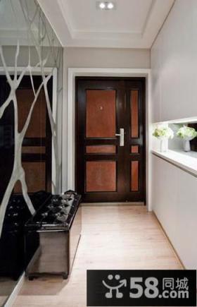 现代美式家居玄关装修设计