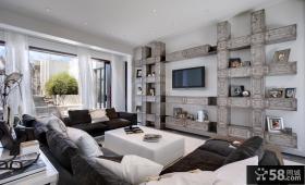 现代风格大客厅电视背景墙装修效果图大全
