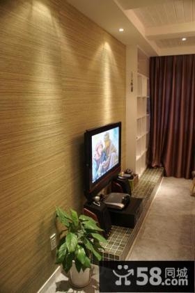 混搭风格客厅电视背景墙装修效果图
