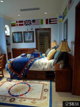 美式风格儿童房装修效果图大全2014图片