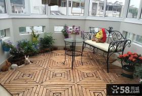 简欧复式家装设计阳台图片大全欣赏