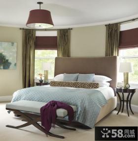 欧式整洁的小复式卧室窗帘装修效果图大全2014