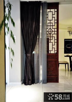 新中式风格别墅室内窗帘效果图