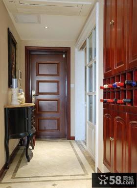 美式室内玄关装饰设计效果图片
