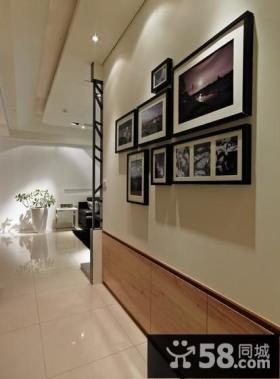 美式现代别墅室内相片墙装饰设计图片