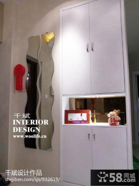 家装白色玄关鞋柜装修效果图