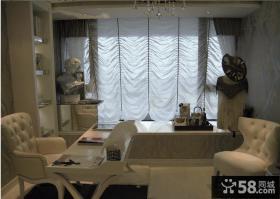 家居客厅飘窗窗帘效果图