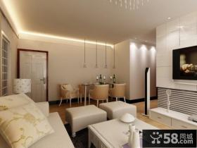 优质白色瓷砖电视背景墙效果图