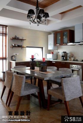 厨房餐厅一体效果图片