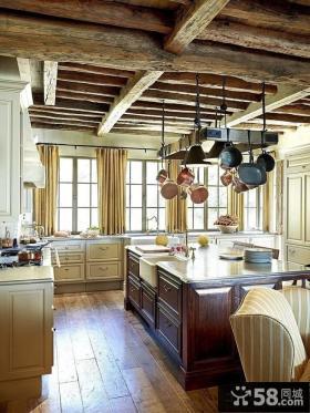欧式田园风格开放式厨房设计