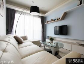 简约风格小户型客厅电视背景墙效果图