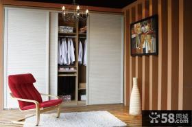 别墅卧室宜家衣柜图片
