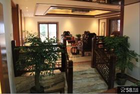 中式别墅庭院装修效果图片