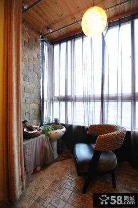 室内阳台中式吊灯图片
