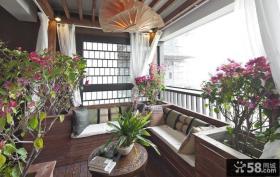中式家装阳台效果图
