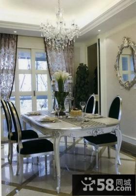 现代欧式风格两室两厅西餐厅设计