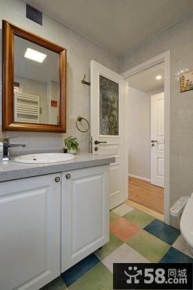 美式风格家居卫生间设计图片2014