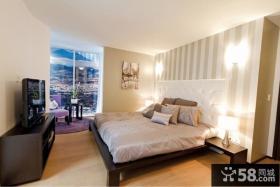 二室一厅装修效果图 简欧风格卧室背景墙